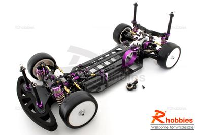 1/10 RC EP High Performance Mi4 Touring Car Carbon Fiber Chassis (Belt-Drive)
