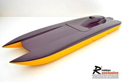 "32.3"" EP Fibreglass RC Godspeed-U Catamaran Racing Boat Hull"