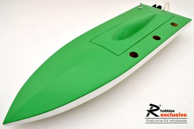RC EP Deep-vee Arowana Fiberglass FRP Mono 1 a-RTR Racing Boat - Green / White (US Warehouse)