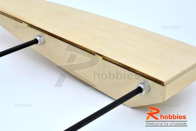 "31.6"" RC EP Wooden Sea Arrow ARR Racing Outrigger Boat"