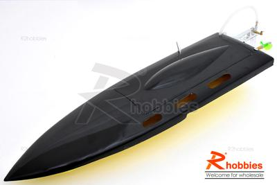 "25.5"" EP Deep-Vee Ocean Force Fibreglass Epoxy FRP Anti-Turnover RC Mono ARR Racing Boat with Fin"