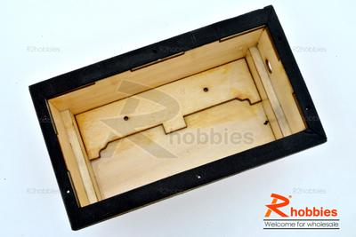 RC Boat Radio Gear Wooden Container with Transparent Hard Plastic Cover