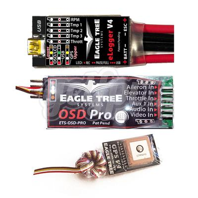OSD Pro Pkg with 100A eLogger/Wire Leads and GPS