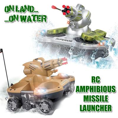 Amphibious RC Boat and Car Landing Craft
