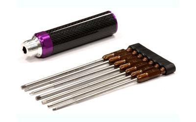 Integy QuickPit 9pcs Set Phillips/Flat/Hex Tip Set INTC23810PURPLE