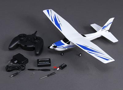Micro 182 Light Aircraft 550mm w/2.4ghz Radio (Mode 2) Charger, Lipo (RTF)