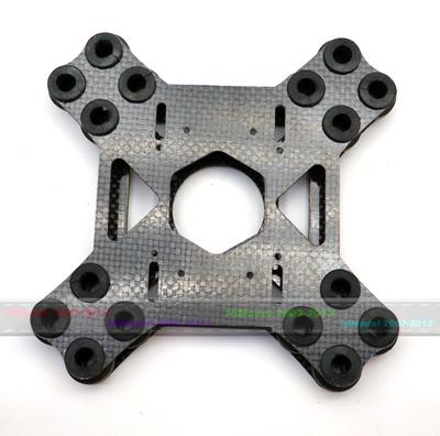 3K Glassy Carbon Shock Absorbing Plate A16W/16 Damping Balls (suit for DSLR)