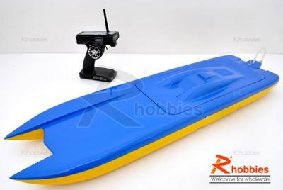 "36"" RC EP Fiberglass FRP Twin Power Catamaran a-RTR Racing Boat"