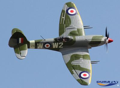 Durafly Supermarine Spitfire Mk 24 with Retracts/Flaps/Nav Lights (PNF)