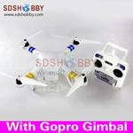 Angel Aircraft Quadcopter/Four-axis Flyer/Multicopter/Multi-rotor Kit with Frame +Propeller +Gopro Gimbal +Motor +ESC