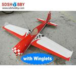 NEW 27% 74in Slick 540 Carbon Fiber Version 30~35cc RC Gasoline Airplane/Petrol Airplane ARF (with Winglets)-Red & White Color