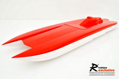 "32.3"" EP Fibreglass RC Godspeed-U Catamaran Racing Boat Hull - Black / Yellow (US Warehouse)"