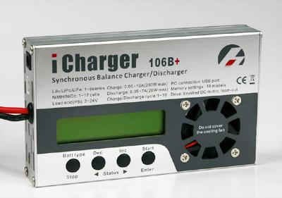 iCharger Multifunction battery 1-6S 10A Balance Charger W/USB Port 106B+