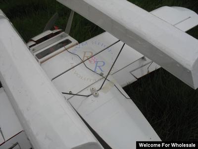 468mm RC Amphibian Plane Balsa Wood Skii Landing Gear Float