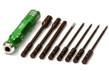 Integy QuickPit 8pcs Set Std Allen/Socket/Screwdriver INTC24400GREEN