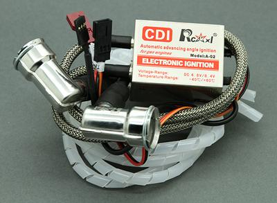 Rcexl Twin Cylinder CDI Ignition for NGK BPMR6A-14mm 90� Caps