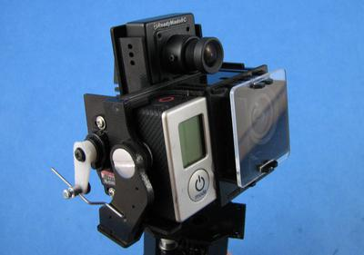 Pro Combo Pan & Tilt for CCD and GoPro HERO3