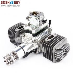 DLA112 CNC Processed Gasoline Engine/Petrol Engine 112CC for Gas Airplanes  with Double Cylinders and NSK Bearing | RCModelScout