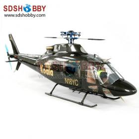 Marvel Craft M-50H Scale Fiberglass Electric Helicopter ARF-Black