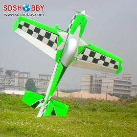 WM 61in MX2 70E Balsa Wood Electric Airplane/ RC Airplane ARF Standard Version-Green/ Black/ White