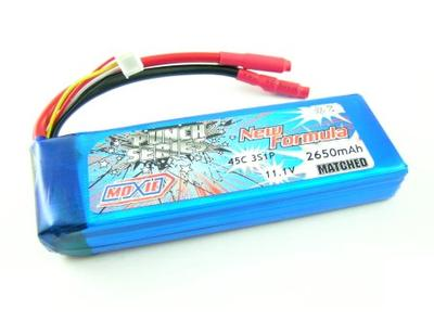 Moxie Punch Series 45C 11.1V 3S 2650mAh Lipo (Gold Bullet 5mm)
