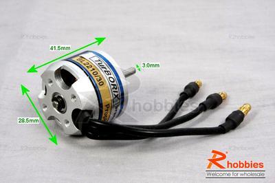 Turborix RC Plane 2840 1400kv (rpm/v) Outrunner BL Brushless Motor