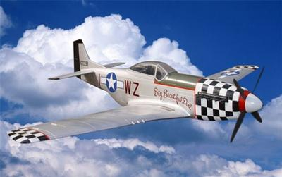 P51 Mustang Large Scale RC Plane Silver PNP Version