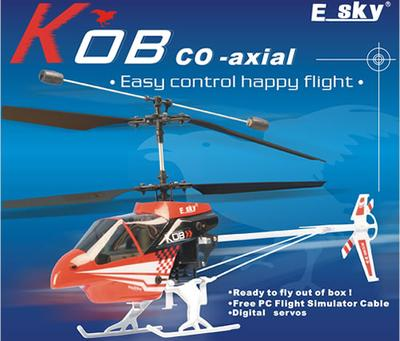 Esky Kob 4ch Co Axial Rc Heli 35mhz Version