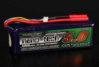 Turnigy nano-tech 5000mah 5S 45~90C Lipo Pack