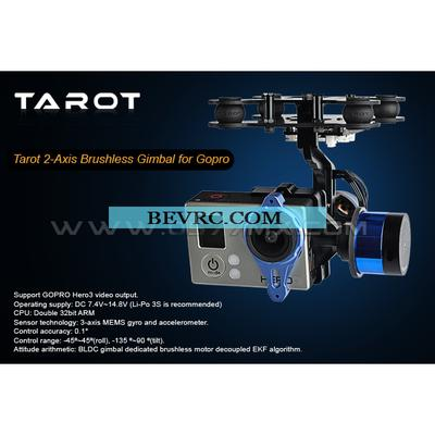 Tarot T2D Gopro Hero3 Two-axis Brushless Gimbal/With Gyro