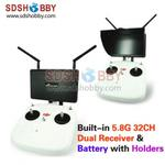 Boscam Galaxy D2 7in FPV Monitor/ Display Built-in 5.8G 32CH Dual Receiver with Holders, 4000mAh Battery and Sun Hood