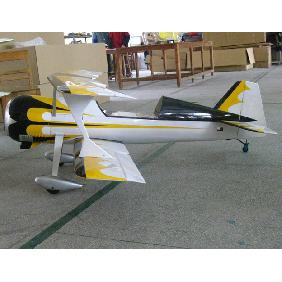 New Pitts S12 50cc RC Model Gasoline Airplane ARF /Petrol Airplane with Yellow/Black/White Color Scheme Version