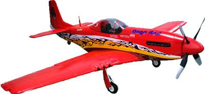 P51 Mustang Large Scale RC Plane Red PNP Version