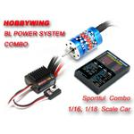 Hobbywing EZRUN Brushless System Combo (25A ESC + 2030 12T Motor +Program Card) for 1/18 Car On-Road Racing Car/ Off-Road Buggy