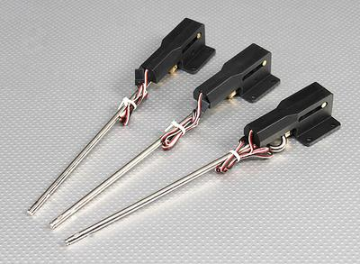 0 46 Servoless Retractable Landing Gear w/Metal Trunnion - Option  Fixed/steering/90 degree Rotate