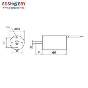fsd 540-3660 kv1620 inrunner brushless motor for rc boat rc car rc model