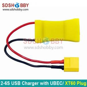 2S-6S Lipo to USB Charger with UBEC Function, XT60 Plug
