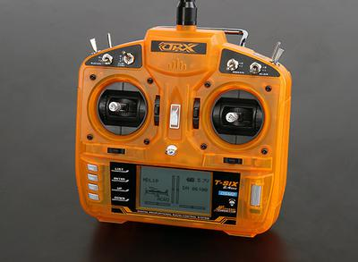 OrangeRx T-SIX 2.4GHz DSM2 6CH Programmable Transmitter w/10 Model Memory and 3-Pos Switch (Mode 2)